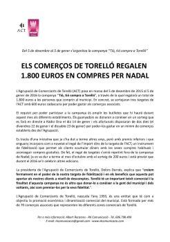 nota premsa ACT Nadal